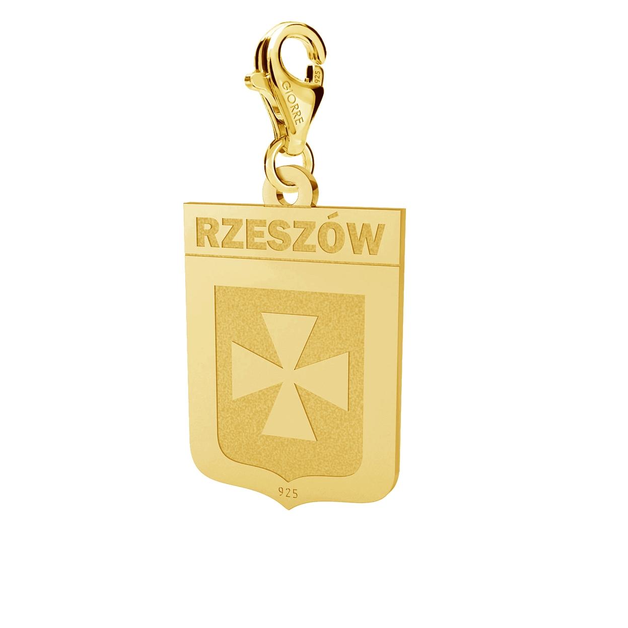SREBRNY CHARMS HERB RZESZÓW SREBRO 925