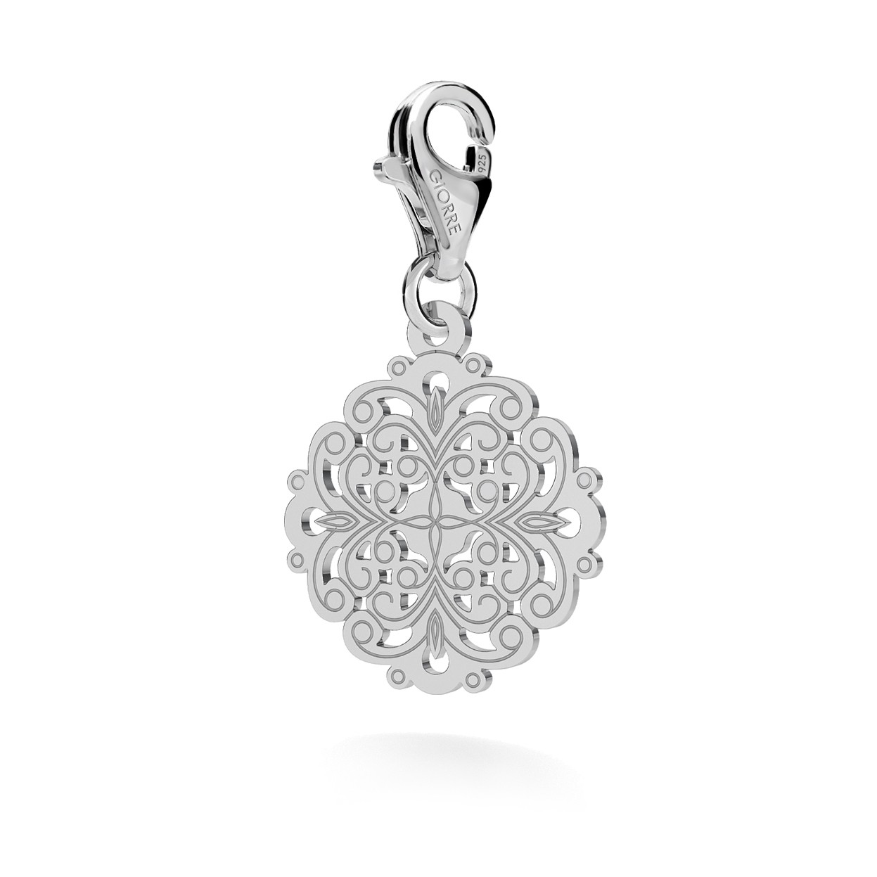 CHARM 106, GOTIC PENDANT, STERLING SILVER (925) RHODIUM OR GOLD PLATED