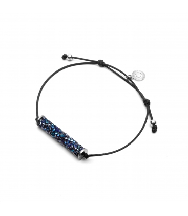 BRACELET WITH ALCANTARA AND SWAROVSKI CRY FINE ROCKS – MODEL 18