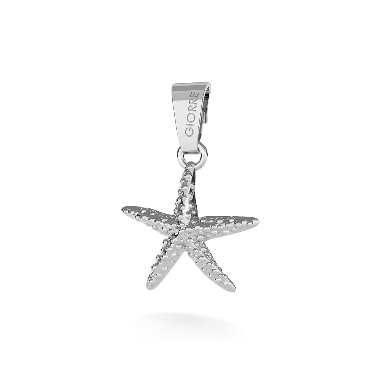 CHARM 19, STARFISH, SILVER 925, RHODIUM OR GOLD PLATED