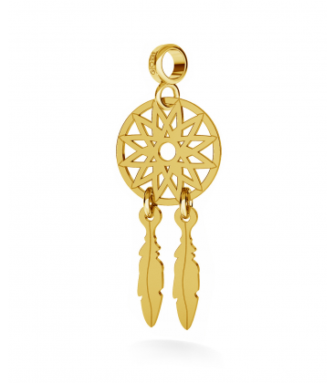 CHARM 110, DREAM CATCHER, STERLING SILVER (925) RHODIUM OR GOLD PLATED