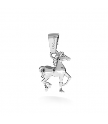HORSE CHARMS PENDANT BEAD STERLING SILVER