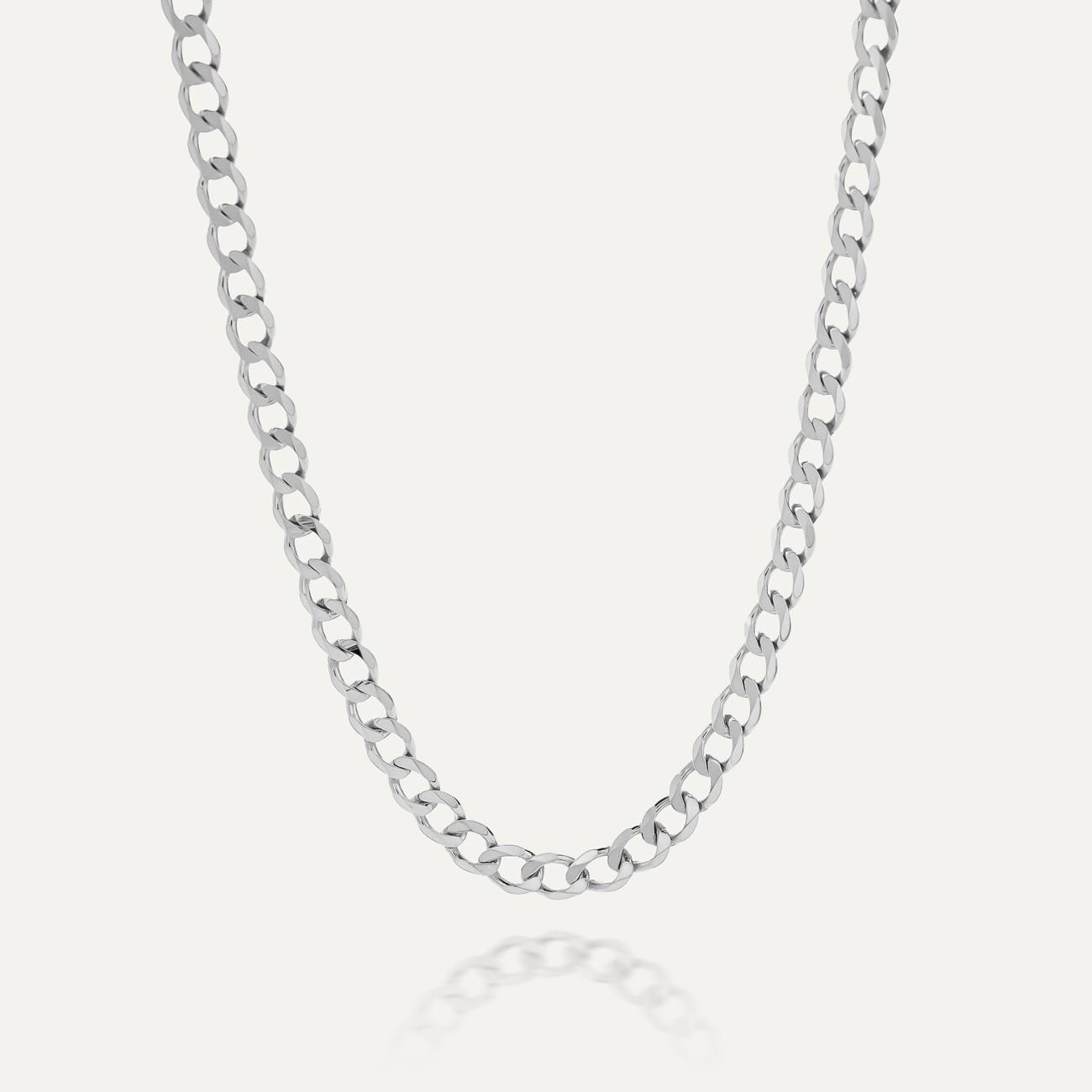 Męski łańcuszek pancerka, srebro 925