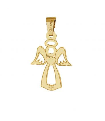 Angel gold pendant 585
