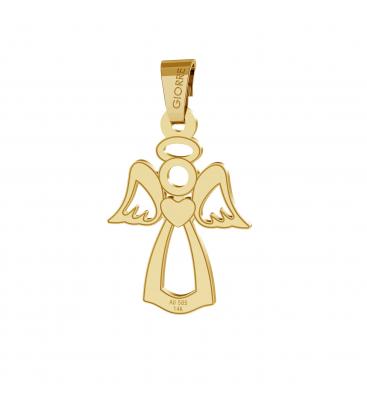 Złota zawieszka anioł, au 585