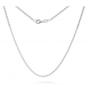 Srebrny łańcuszek ankier płaszczony 925