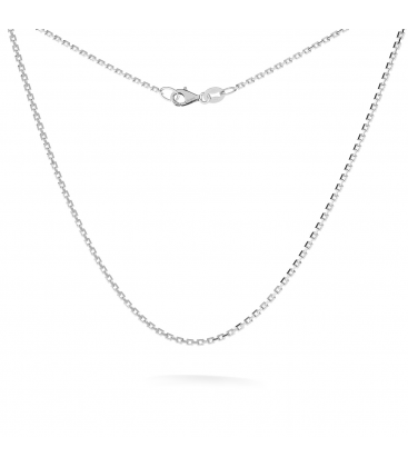 Silver chain 35-45 cm, rhodium or gold plated, Silver Ag 925