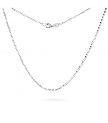 Silberne halskette aus kugeln 45-55 cm, rhodiniertes silber (schwarzes rhodium)