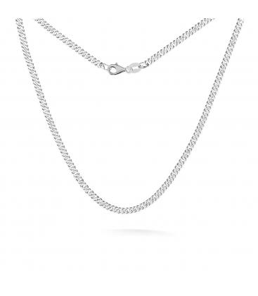 Gargantilla de plata con bolas 45-55 cm, plata chapada en rodio (rodio negro)