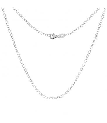 Srebrny łańcuszek ankier okrągły, srebro 925