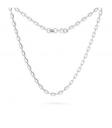 Męski srebrny łańcuszek choker ankier diamentowany 925