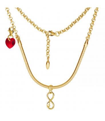 Naszyjnik choker baza do beadsów i charmsów srebro 925