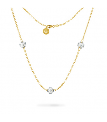 Silver chain bracelet choker 925 charms base with swarovski crystals