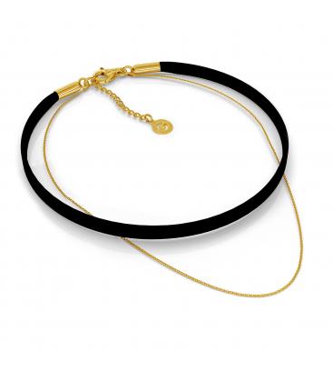 Sterling silver & alcantara necklace choker charms base