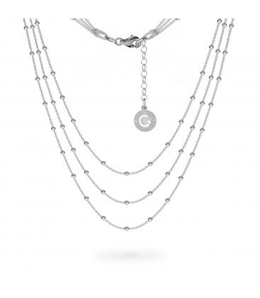 Potrójny naszyjnik łańcuszek baza do charmsów srebro 925