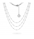 STERLING SILVER NECKLACE BALL CHAIN CHOKER CHARMS BASE