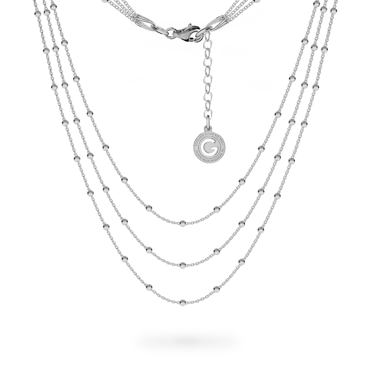 COLLIER FOULARD BASE CHARMS ARGENT
