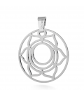 SACRAL CHAKRA CHARMS BEAD PENDANT STERLING SILVER