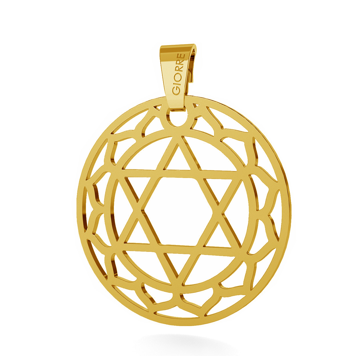 CHARM 71, HEART CHAKRA, STERLING SILVER (925) RHODIUM OR GOLD PLATED
