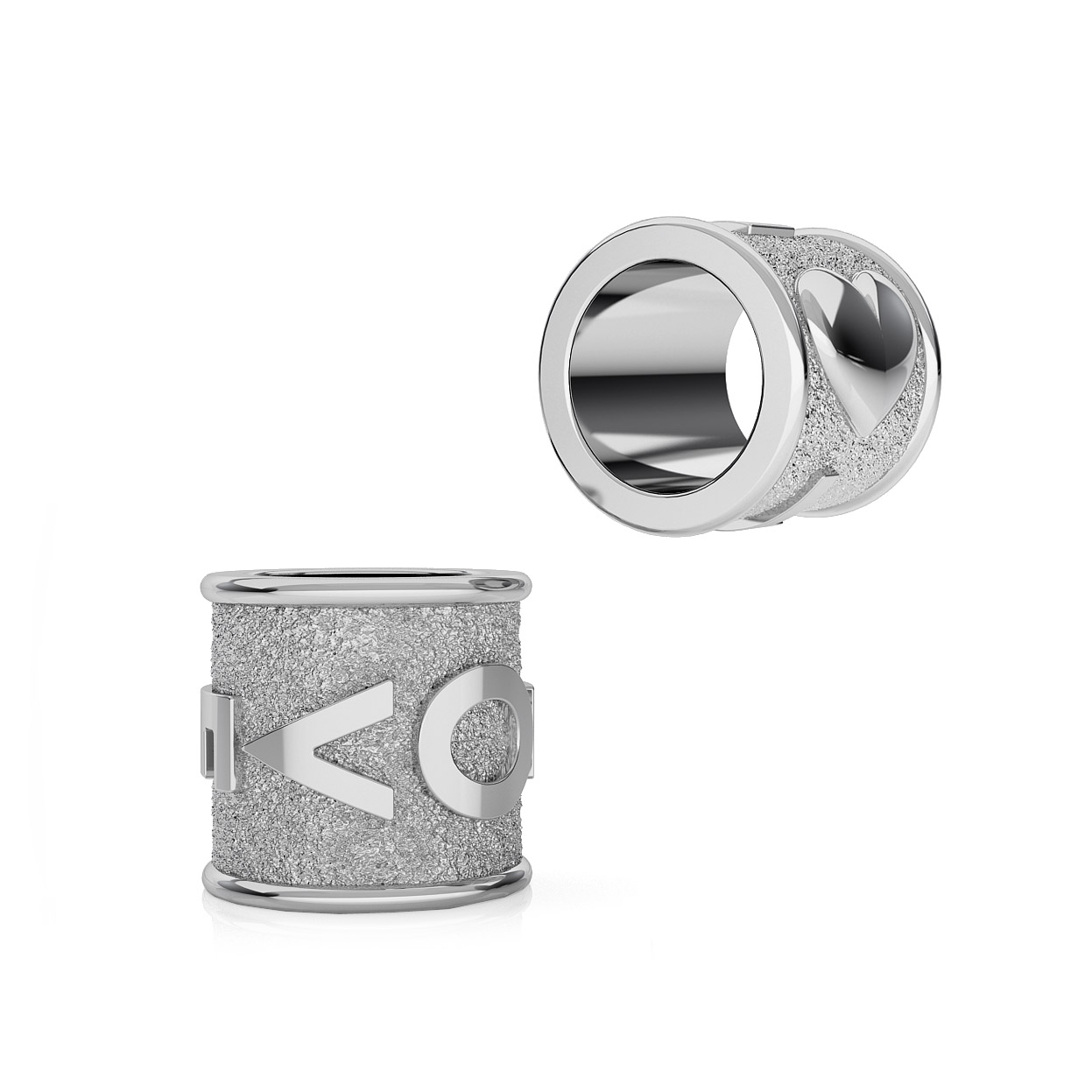 SILVER SPACER BEADS WAVES 925