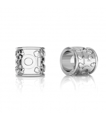 SILVER SPACER BEADS LOVE 925