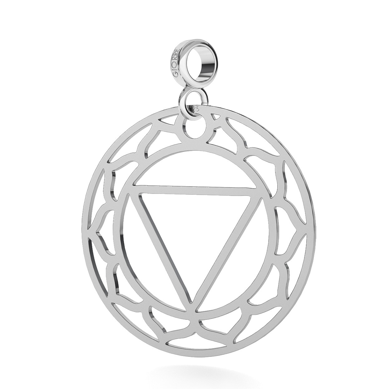 CHARM 72, NAVEL CHAKRA, STERLING SILVER (925) RHODIUM OR GOLD PLATED