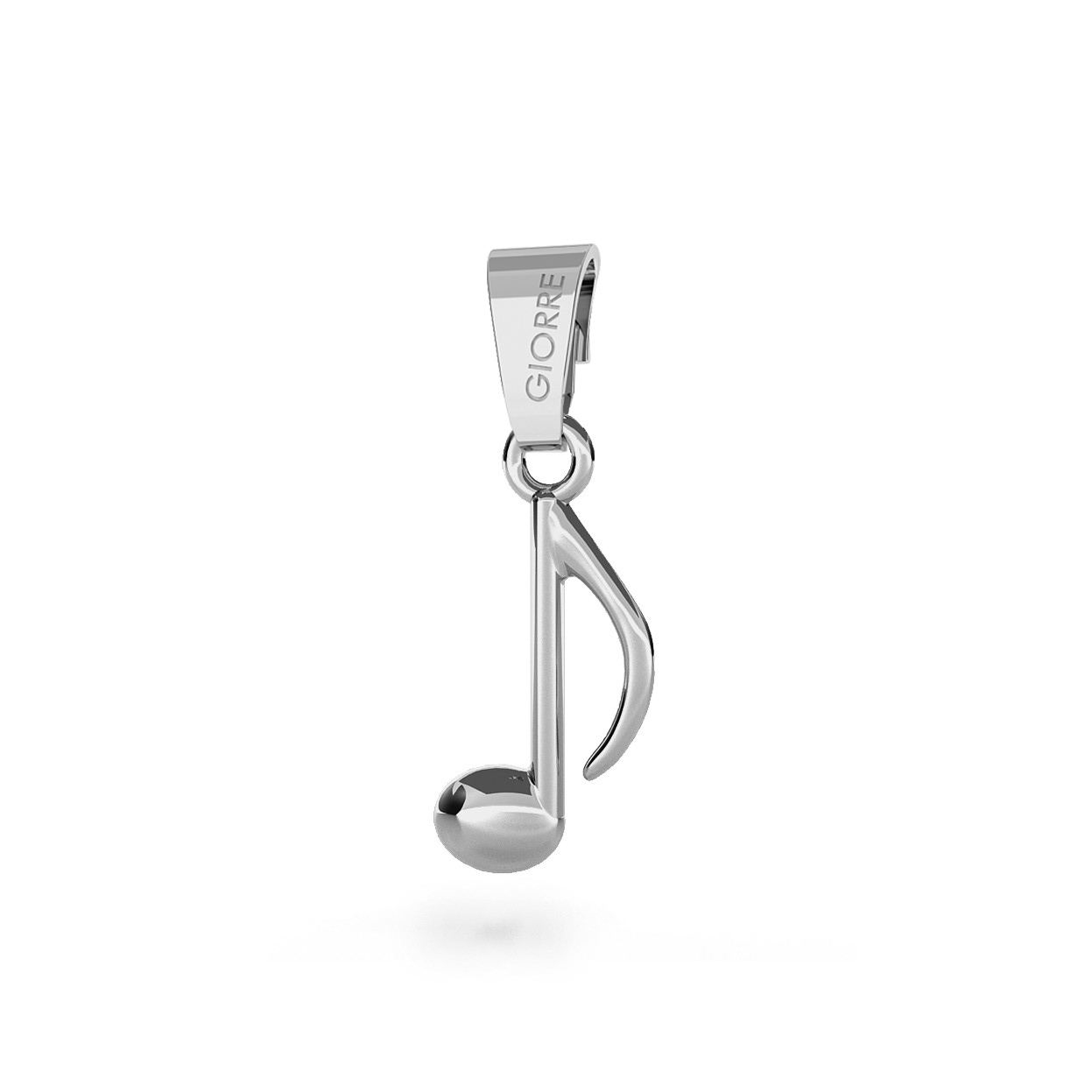 CHARM 23, NOTE, SILVER 925, RHODIUM OR GOLD PLATED