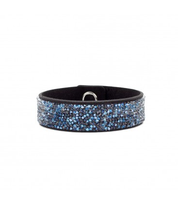 BRACELET WITH ALCANTARA AND SWAROVSKI CRY MEDLEY – MODEL 15