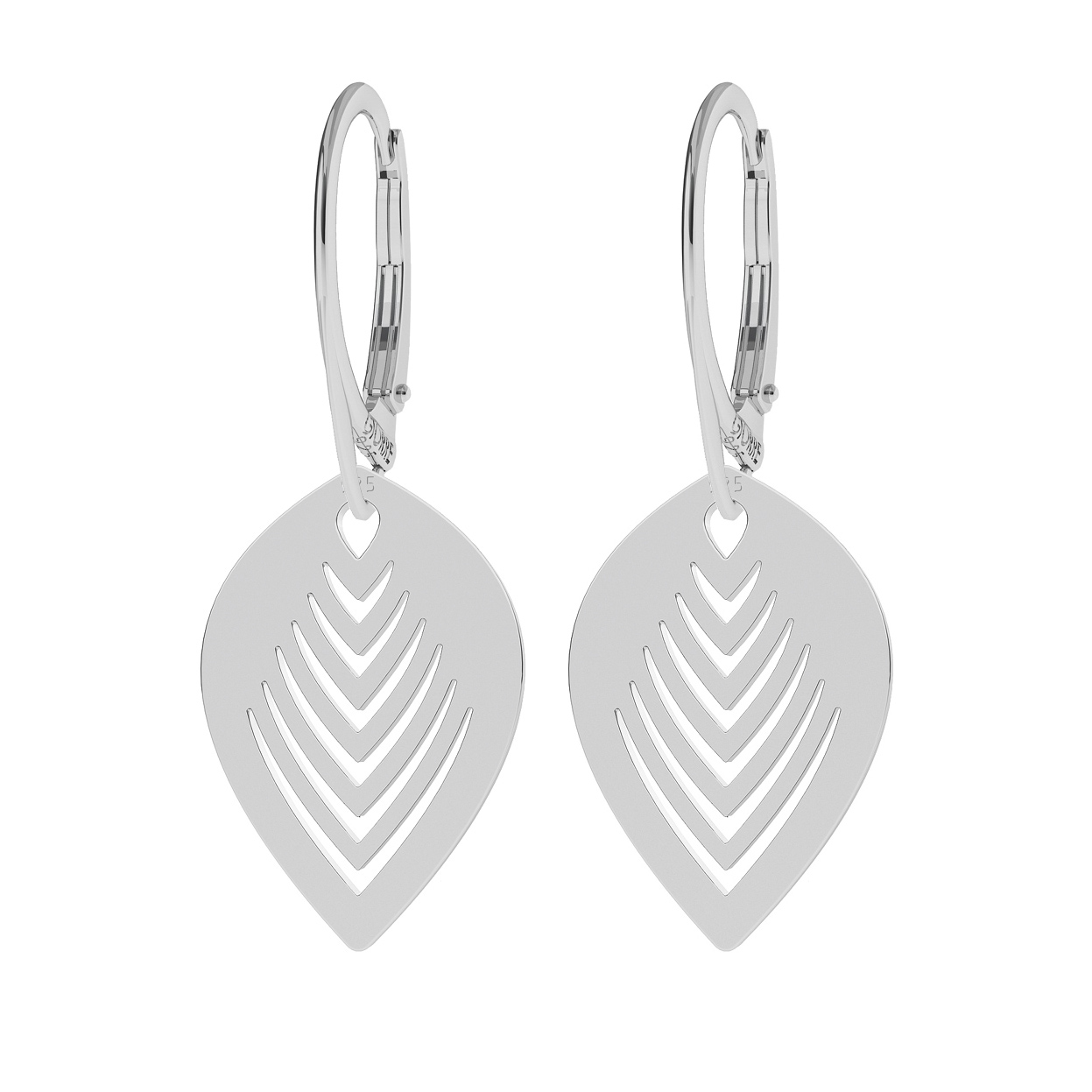 PALM LEAVES EARRINGS STERLING SILVER 925