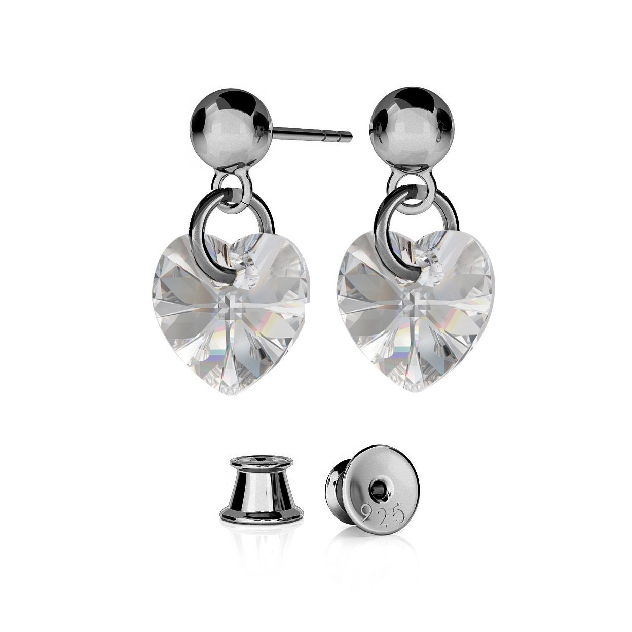 DEVIL EARRINGS SWAROVSKI RIVOLI