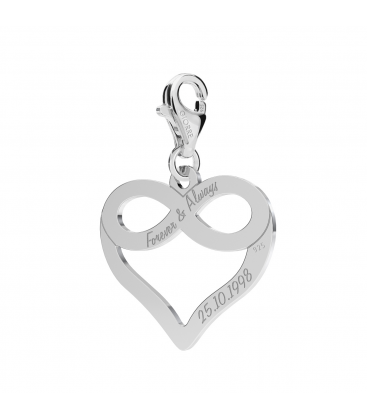 HEART WITH INFINITY SIGN CHARMS 267