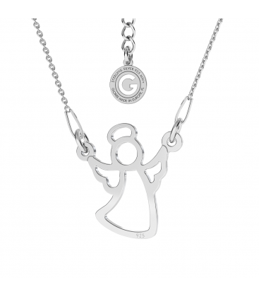 HEART NECKLACE SILVER 925 SWAROVSKI CRYSTALS ENGRAVED