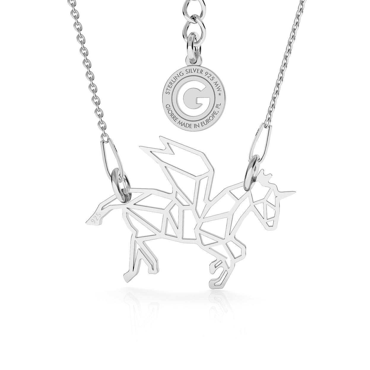 FRENCH BULLDOG NECKLACE SILVER 925