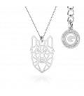 WOLF ORIGAMI NECKLACE SILVER 925