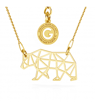 CHAT ORIGAMI COLLIER ARGENT 925