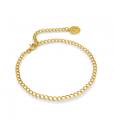 SILVER BRACELET ROMBO 16-24 CM, GOLD PLATED (YELLOW GOLD)