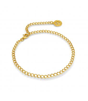Bracelet en argent rombo 16-24 cm, argent oré (or jaune)
