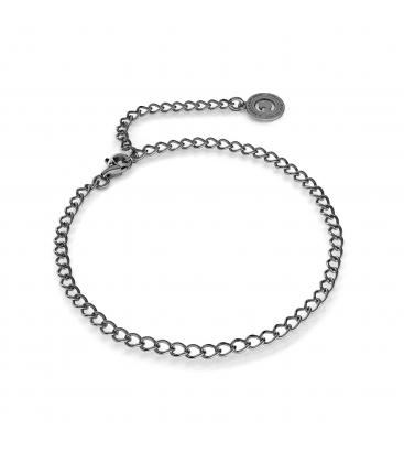 Silbernes armband rombo 16-24 cm, rhodiniertes silber (schwarzes rhodium)