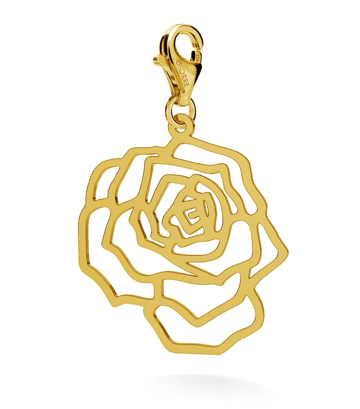 CHARM 111, ROSE, STERLING SILVER (925) RHODIUM OR GOLD PLATED
