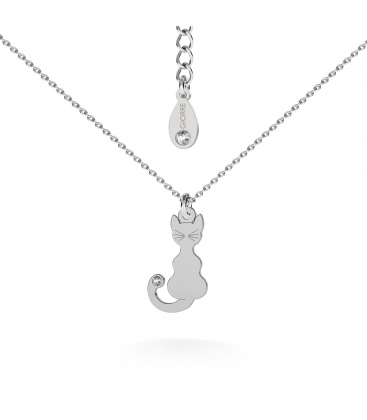Cat necklace silver 925