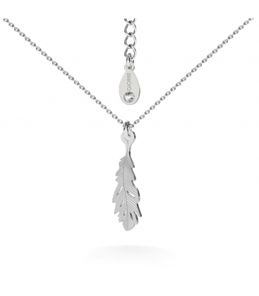 Feather necklace silver 925