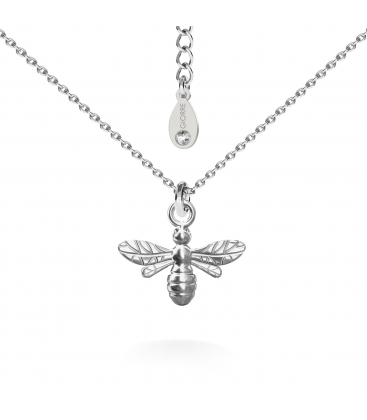 Bee necklace silver 925