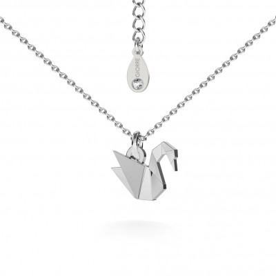 CHAMELEON ORIGAMI NECKLACE SILVER 925