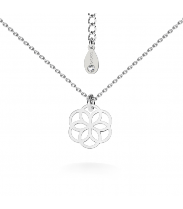Round openwork necklace silver 925