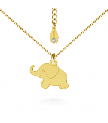Elephant necklace silver 925
