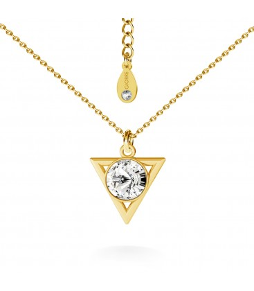 Triangle with swarovski necklace silver 925