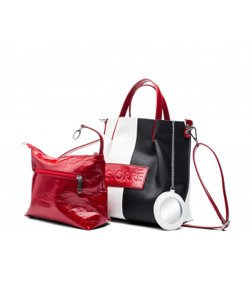 Black & white women bag