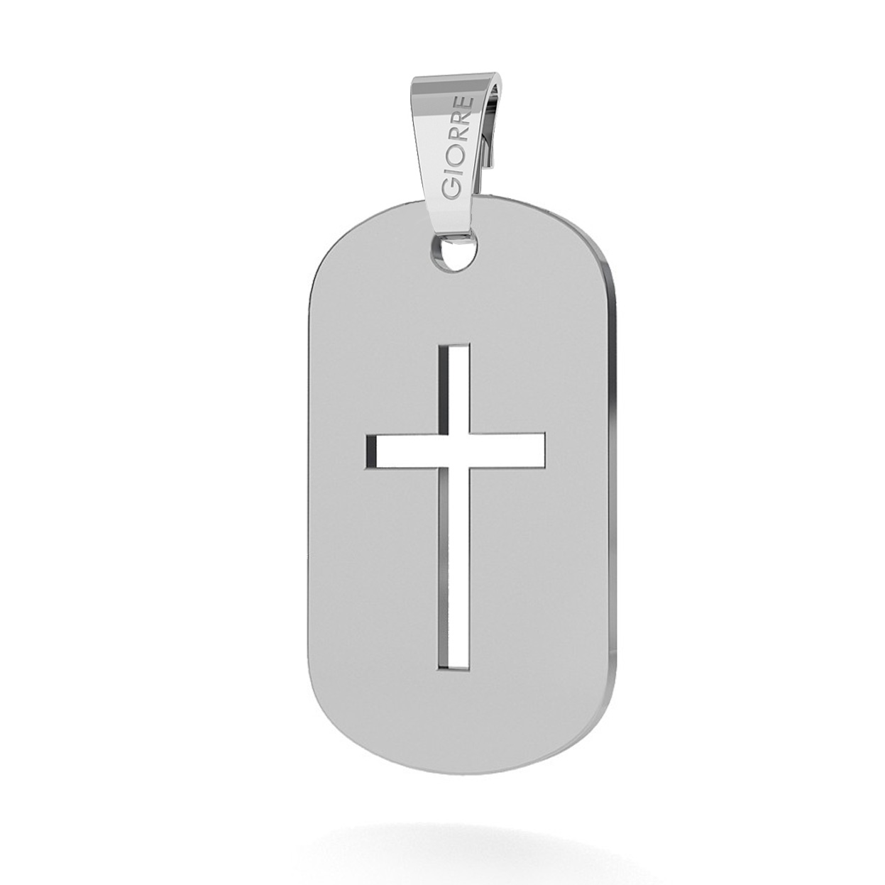 CHARMS DOG TAG WITH CROSS PENDANT BEAD 925