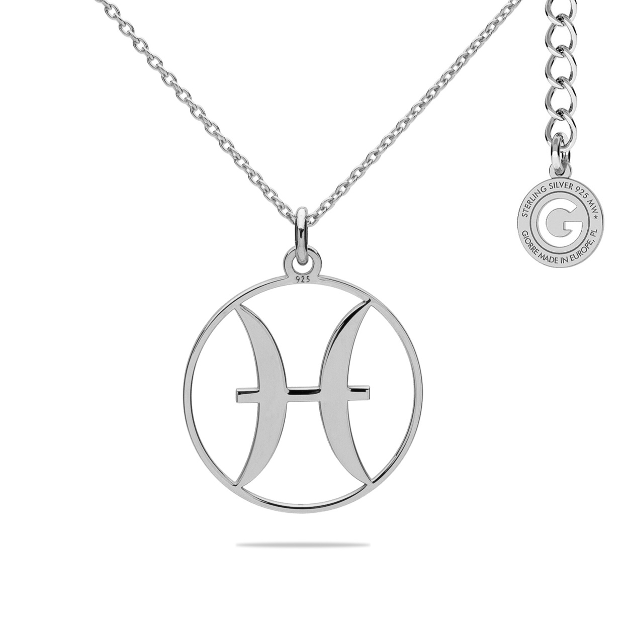 PISCES ZODIAC SIGN NECKLACE SILVER 925