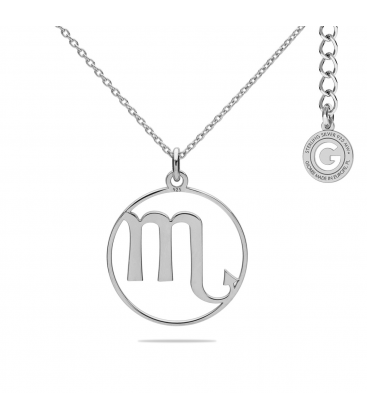 SCORPION ZODIAC SIGN NECKLACE SILVER 925
